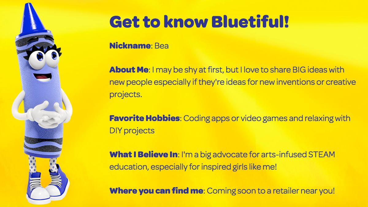 Bluetiful: Crayola announces new color name   American Name
